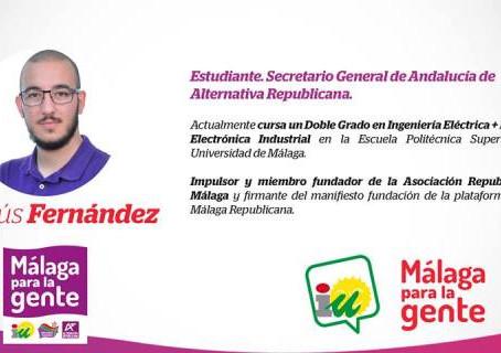 Jesús Fernández, candidato nº 7 de Malaga para la gente