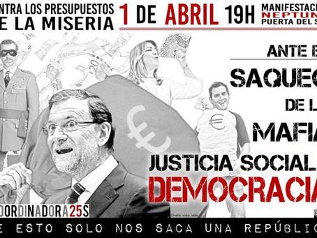 Alternativa Republicana apoya la Manifestación contra el saqueo de la mafia #1abrilAlaCalle
