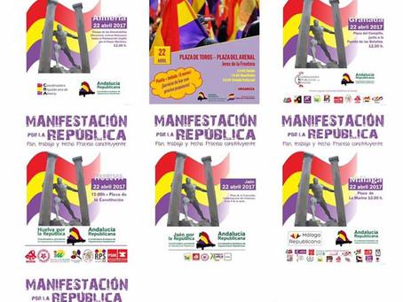 Éxito de las manifestaciones republicanas en Andalucía