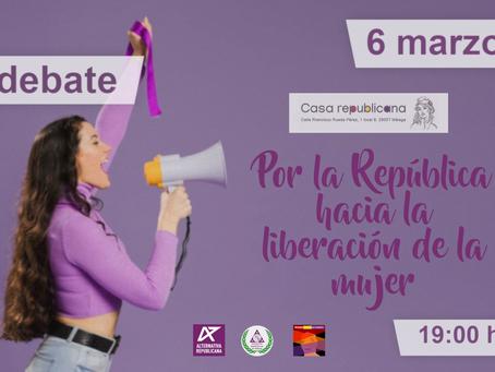 """Málaga. Debate """"Por la República hacia la liberación de la mujer"""""""
