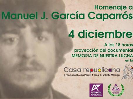 Málaga: Documental sobre Manuel J. García Caparrós con motivo del Día de Andalucía.