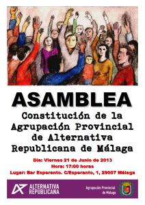 Cartel Asamblea Málaga