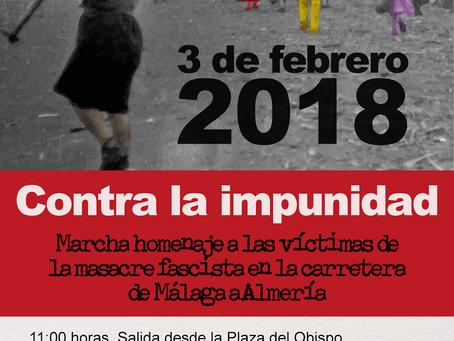 Málaga. Contra la impunidad. Marcha homenaje a las víctimas de la masacre fascista en la carretera d