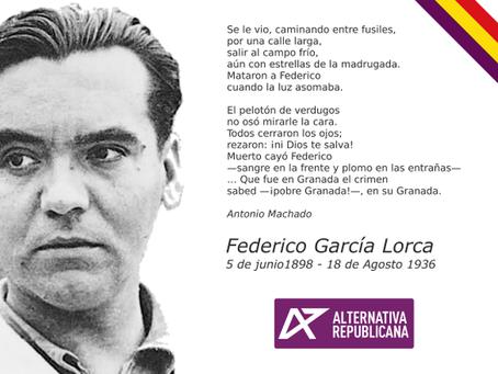 Federico García Lorca, mártir republicano