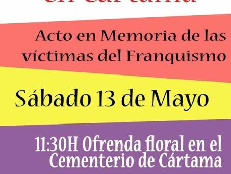 Cártama (Málaga). Acto en memoria de las víctimas del franquismo
