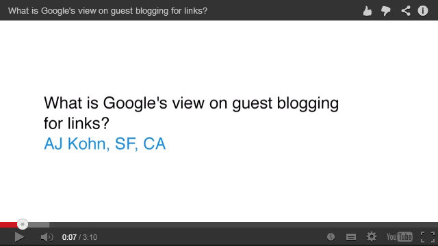 google guest blogging