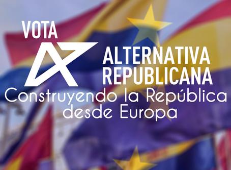 Alternativa Republicana afronta las Elecciones Europeas como una consulta sobre la República.