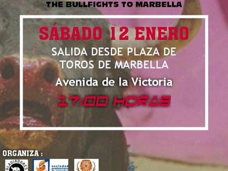 Marbella: Alternativa Republicana apoya la manifestación contra el retorno de los toros.