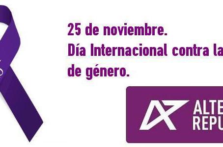 Comunicado de ALTER con motivo del Dia Internacional contra la violencia de género.