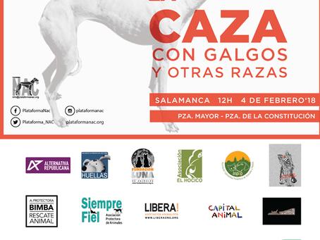 Salamanca: Alternativa Republicana apoya la manifestación #NoALaCaza4F