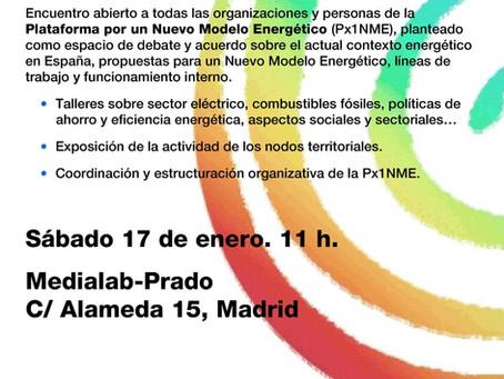 La Px1NME organiza el II Encuentro Estatal por un Nuevo Modelo Energético