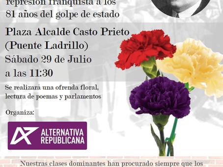 III Homenaje al alcalde Casto Prieto y a las víctimas del franquismo en Salamanca