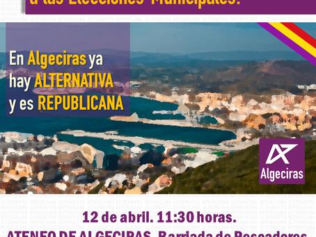 Presentación de la candidatura de Alternativa Republicana en Algeciras