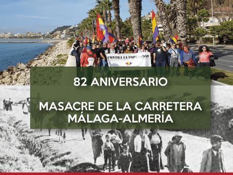 La Desbandá 2019: 82º aniversario del genocidio de la carretera Málaga-Almeria.