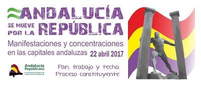 22 de abril. Andalucía se mueve por la República. Manifestaciones y concentraciones en las capitales