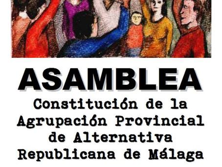 Cuarto aniversario de la constitución de la Agrupación Provincial de Málaga de Alternativa Republica