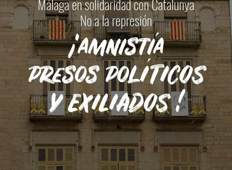 Málaga: El Secretario General de Alternativa Republicana interviene en la concentración en apoyo a l