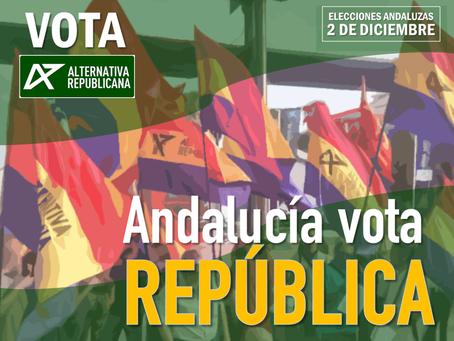 Alternativa Republicana en las elecciones andaluzas.