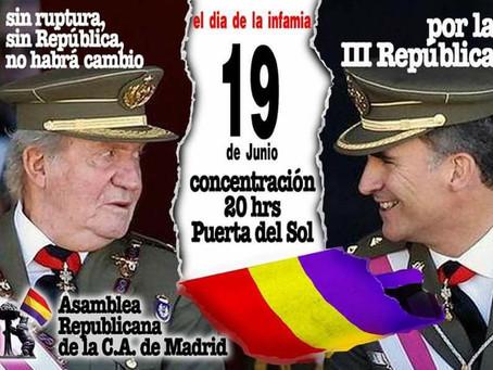 Madrid. Concentración por la III República. Sin ruptura, sin República, no habrá cambio.