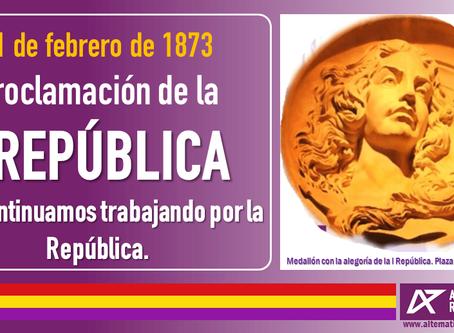 147º Aniversario de la Proclamación de la I República