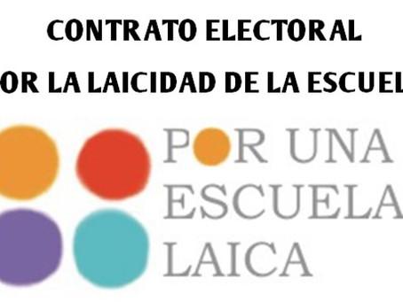 """Campaña unitaria  """"POR UNA ESCUELA PÚBLICA Y LAICA.                  RELIGIÓN FUERA DE LA ESCUELA"""""""