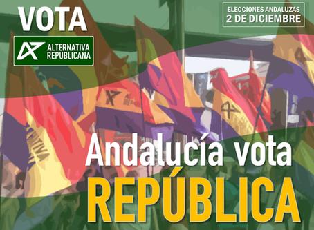 Video: Vota Alternativa Republicana. Andalucía vota República.