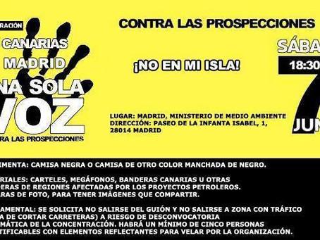 Alternativa Republicana con las movilizaciones contra las prospecciones petrolíferas en Canarias