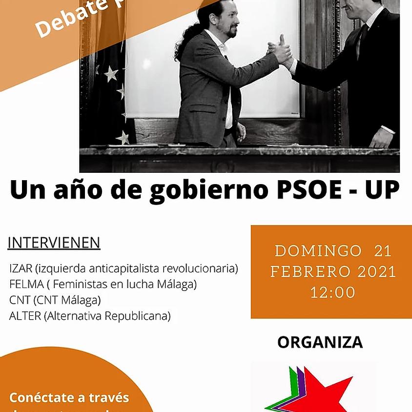 """Málaga: Debate público online """"Un año de gobierno PSOE-UP"""""""