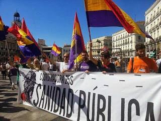Coordinadora 25-S y Alternativa Republicana Madrid codo a codo por la Sanidad Pública