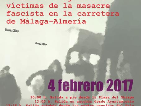 Marcha homenaje a las víctimas de la masacre fascista en la carretera Málaga-Almería