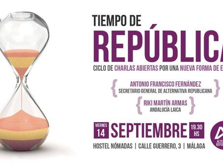 Málaga. Tiempo de República. Charlas por una nueva forma de Estado