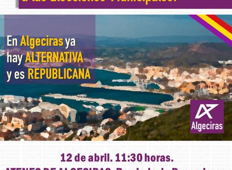 VIDEO: Presentación de la candidatura municipal de Alternativa Republicana en Algeciras.