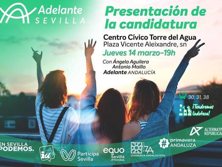 Presentación de la candidatura de Adelante Sevilla