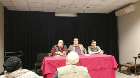 De izquierda a derecha: Pedro Mayor (Iniciativa por Madrid), Pedro García Bilbao (Al Servicio de la República) y Javier González Sabín (Secretario General de Alternativa Republicana Madrid)