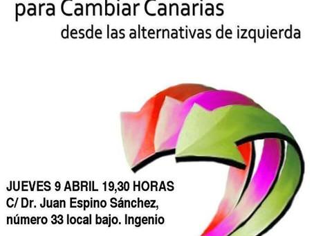 Presentación en Ingenio de la coalición para Cambiar Canarias desde las alternativas de izquierda