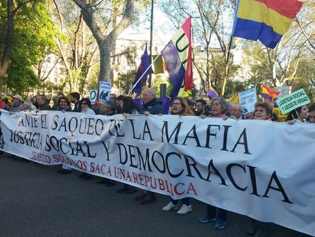 Alternativa Republicana en la manifestación «Contra el saqueo de la Mafia»