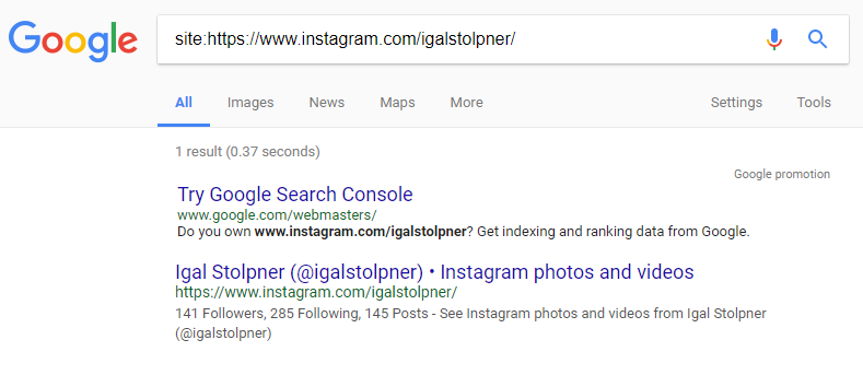 Instagram Indexing
