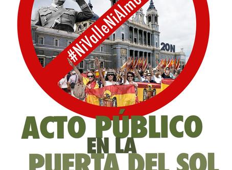 Madrid: Acto público #NiValleNiAlmudena el 18 de julio.