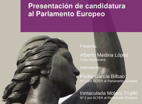 Málaga: Presentación de la candidatura de Alternativa Republicana en las Elecciones Europeas.