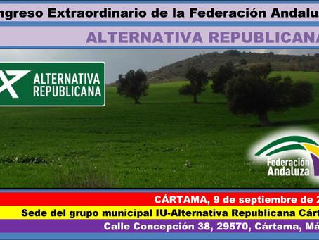 Congreso Extraordinario de la Federación Andaluza de Alternativa Republicana