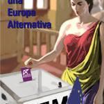Portada del programa electoral inspirada en una imagen del referedum monarquía/república en Italia en 1947.