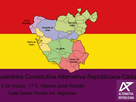 Algeciras (Cádiz). Constitución de Alternativa Republicana en la provincia de Cádiz