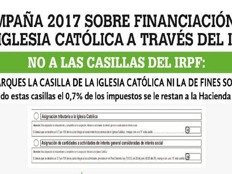 Campaña del IRPF 2017. NO marcar ninguna de las casillas en la Declaración de la Renta