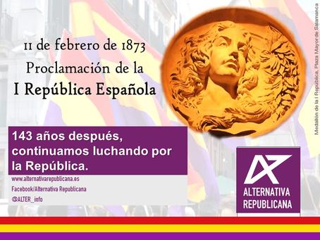 143º Aniversario de la proclamación de la I República