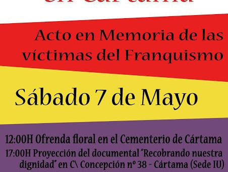 IV Ofrenda floral en Cártama en memoria de las víctimas del franquismo