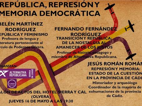 Olvera (Cádiz): Jornada de conferencias «República, represión y memoria democrática»