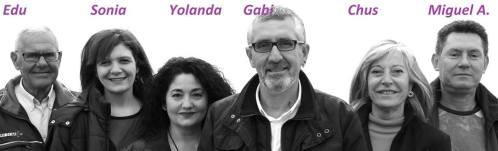 Edu, Sonia, Yolanda, Gabi, Chus y Miguel A. somos parte de un gran proyecto de cambio para Montgat. Con el PRE no son solo palabras sino hechos. ( foto de Jose Luis Granged )