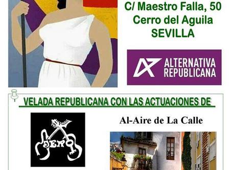 Gran ambiente en la celebración del primer aniversario de la Casa Republicana de Sevilla