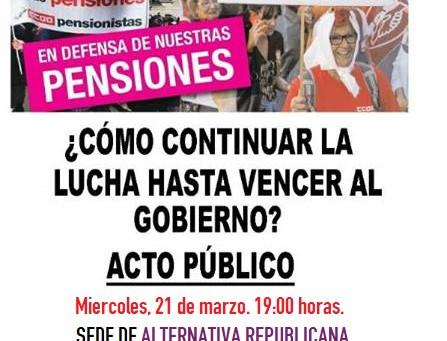Sevilla: Acto público en defensa de las pensiones.