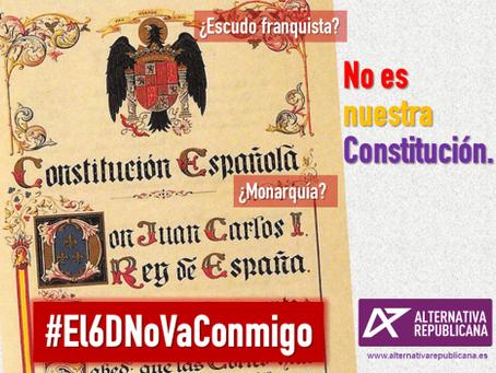 Nunca será nuestra Constitución